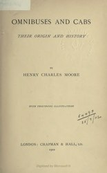 Henry Charles Moore: Omnibuses and Cabs