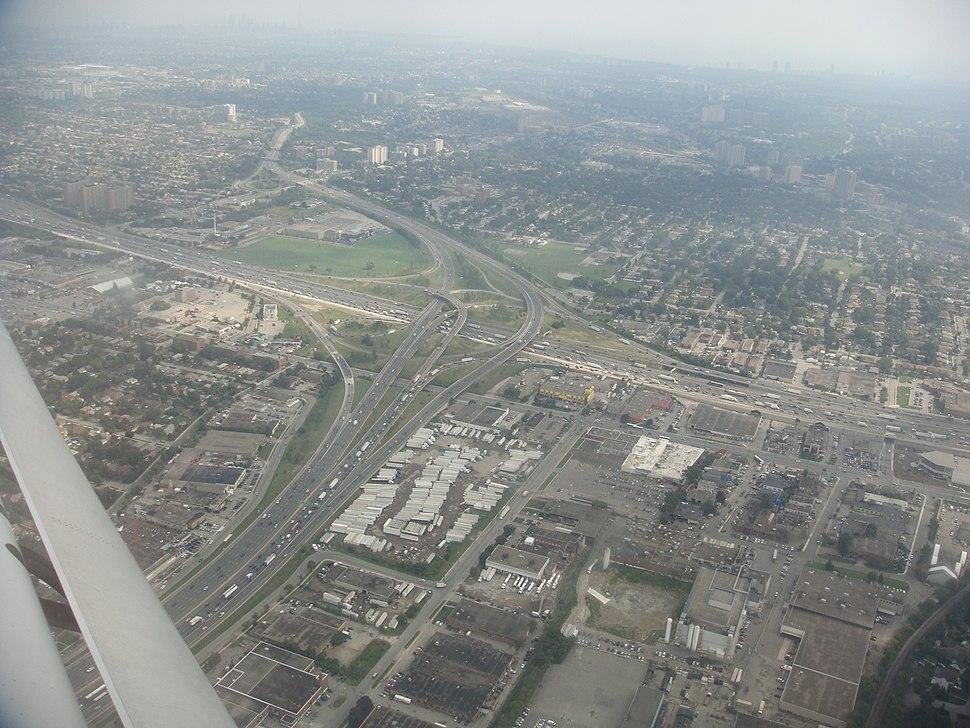 Ontario Highway 400 and 401 interchange