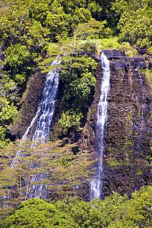 waterfall on the Wailua River