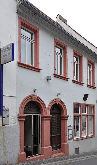 Paul Wallot - Wallot's birthplace in Oppenheim (Krämerstraße 7)