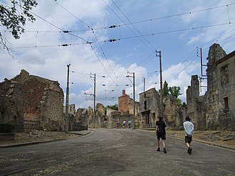 Oradour-sur-Glane massacre - Image: Oradour sur Glane Streets 1294
