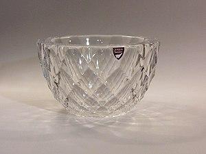 Orrefors glassworks - Crystal bowl by Orrefors