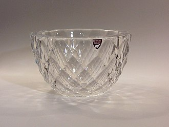 Orrefors glassworks - Crystal bowl by Orrefors