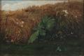 Oscar Carlson - Grøftekant med skræppeblade og sommerfugle.png