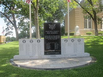 Ouachita County, Arkansas - Image: Ouachita County, AR, Veterans Monument IMG 2239