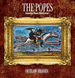 Shane MacGowan and The Popes - Outlaw Heaven CD Cover by Brian Whelan