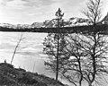 Oversiktsbilde fra Elgå. I forgrunnen et vann som ligger nedenfor Fjellgutusjøen, 1961 - Norsk folkemuseum - NF.06735-019.jpg
