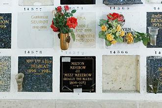 Mezz Mezzrow - Père-Lachaise Cemetery.