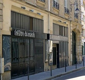 Théâtre du Marais - The present-day Théâtre du Marais
