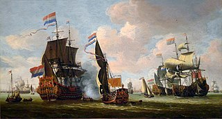 The Dutch Fleet in the Harbor of Amsterdam
