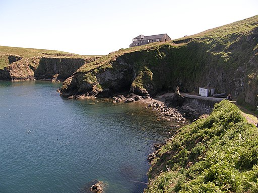 Skomer:New warden's house and North Haven beach