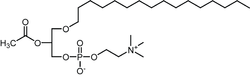 Struktur von PAF (1-O-alkyl-2-azetyl-sn-glyzero-3-phosphocholin)