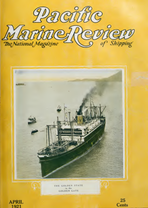 Pacific Marine Review - The cover of April, 1921 issue