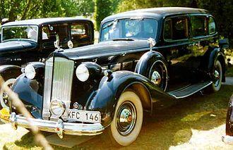 Packard Super Eight - Image: Packard 1502 Super Eight Touring Limousine 1937