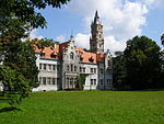 Neogothic palace of Donnersmarck family in Nakło Śląskie, Poland.
