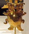 Panama, veraguas, pendente a forma di tartaruga, XI-XVI sec. ca., 04 oro fuso.JPG