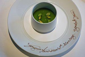 Mint sauce - Image: Panna cotta mint sauce
