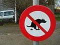Panneau interdiction dejections canines.JPG