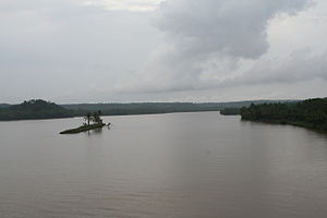 Valapattanam River - A view of Valapattanam river from Parassinikkadavu Bridge.