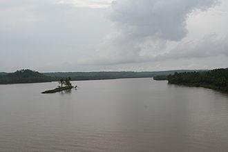 Kalarivathukkal Temple - Image: Parassinikkadavu Valapattam River