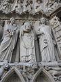 Paris Notre-Dame cathedral Portail de la Vierge jamb statues left Saint-Denis 01b.jpg
