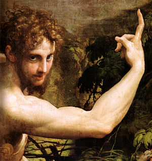 Parmigianino - Vision of Saint Jerome (detail).