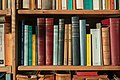 Part of a bookshelf containing books by ancient philosophers (Loxia 35mm F2).jpg