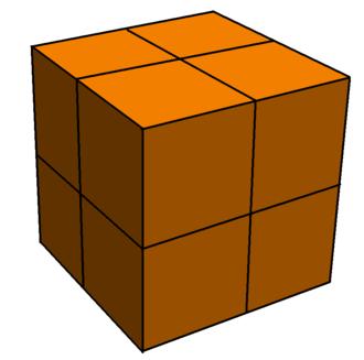 Hypercubic honeycomb - Image: Partial cubic honeycomb