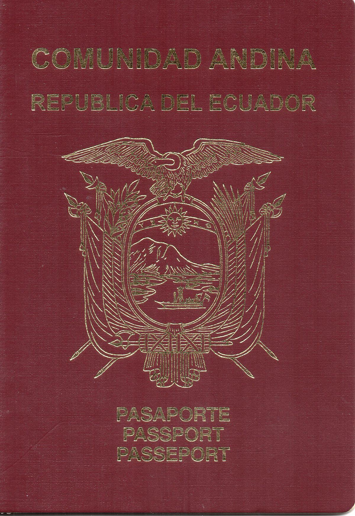 Pasaporte ecuatoriano - Wikipedia, la enciclopedia libre
