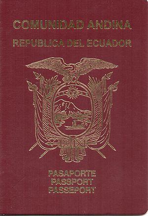 Andean passport - Image: Pasaporte de la República del Ecuador