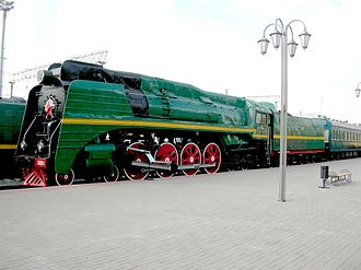 Russian locomotive class P36 - P36-0001 at the Moscow Railway Museum
