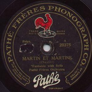 Pathé Records - Pathé disc label