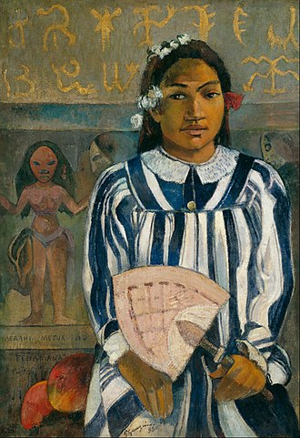 Merahi metua no Tehamana - Image: Paul Gauguin The Ancestors of Tehamana OR Tehamana Has Many Parents (Merahi metua no Tehamana) Google Art Project