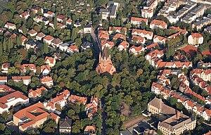 Halle (Saale) - View over Paulusviertel