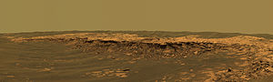 Erebus (crater) - Image: Payson Ridge, Erebus Crater, Mars Opportunity Rover