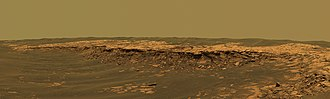 Erebus (crater) - Image: Payson Ridge, Erebus Crater, Mars Opportunity Rover