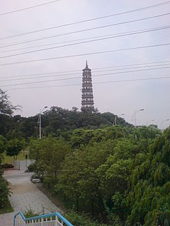 Pazhou Pagoda building in Pazhou Pagoda, China