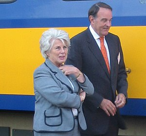 Karla Peijs - Karla Peijs (left) with director of the Dutch railways Aad Veerman
