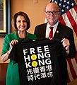 Pelosi and McGovern hold a Free Hong Kong T-shirt (cropped).jpg