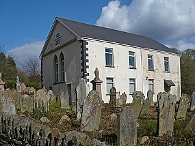 Penmain Chapel and gravestones - geograph.org.uk - 764899.jpg