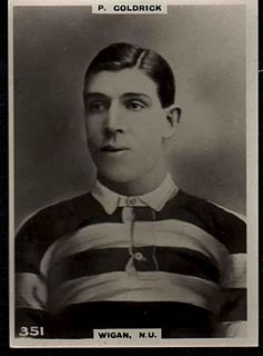 Percy Coldrick Welsh rugby union and rugby league footballer
