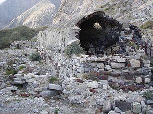 Perissa, Santorini - The ancient basilica of St. Irene.