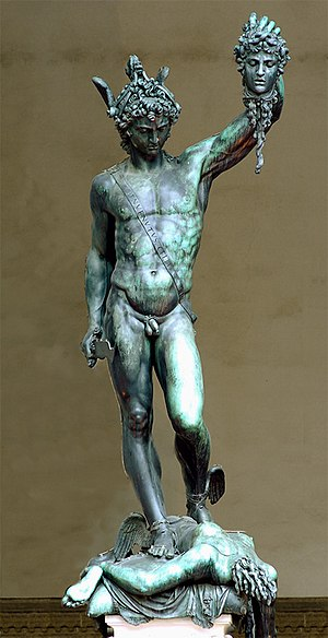 Cellini's Perseus (1545–54), wearing the Cap o...
