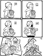 """Little Sammy Sneeze"" comic strip, published 1904-1906. Created by Winsor McCay (1871-1934)."