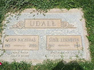 John Nicholas Udall - Grave site of Nick and Sybil Udall