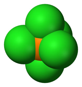 Phosphorus pentachloride - Image: Phosphorus pentachloride 3D vd W
