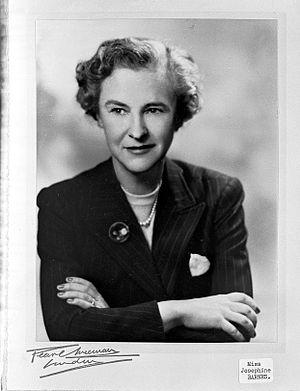 Josephine Barnes - Image: Photograph portrait of Josephine Barnes. Wellcome L0004409