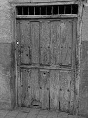 Photography by David Adam Kess, España, Aranda de Duero, Hand Carved Wooden Door, pic.bbb España.jpg
