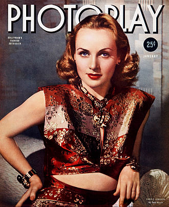 Photoplay - Carole Lombard on the cover of Photoplay (January 1940)