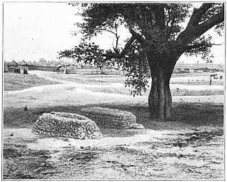 Voulet–Chanoine Mission - Voulet's and Chanoine's graves near the village of Maijirgui, Niger. Photo taken 1906.
